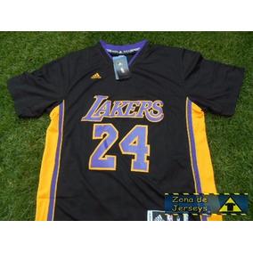Jersey Los Angeles Lakers Negra Manga Corta Kobe Bryant 24