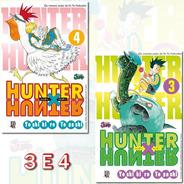 Hunter X Hunter 3 E 4 Relançamento! Mangá Jbc! Novo Lacrado