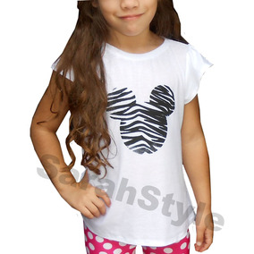 Franelas Blusas De Niña Estampadas Unicolores
