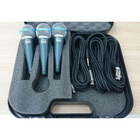 Kit 03 Microfones Shamsonic Sh-58 - Padrão Sm58