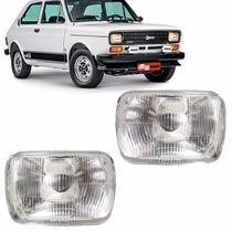 Par Farol Fiat 147 77 78 79 80 Lente Vidro 1977 1978 1979