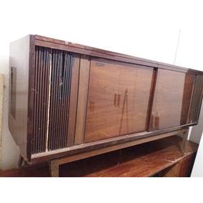 Antiguo Mueble Estilo Americano De Tocadiscos Y Radio