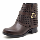 Bota Feminina Coturno Atron Shoes 9108--frete Grátis
