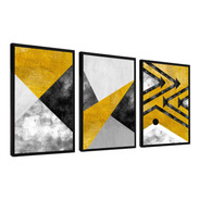 Quadro Abstratos Lindos Moldura Lisa 120x60 Sala Hall Quarto