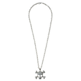 Collar Tonnos De Metal Con Calavera - Envío Gratis