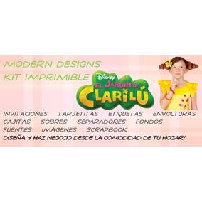Kit Imprimible El Jardín De Clarilú Adornos Invitaciones Y+
