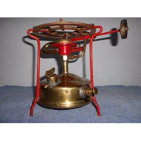 Calentador Antiguo A Kerosene De Bronce Lustrado