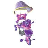 Triciclo Infantil Elefante Con Manija Y Capota Desmontable