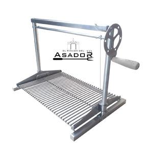 Asador Inoxidable Parrilla Elevador Barra 1/4 65x45