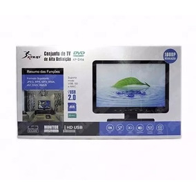 Tv Monitor Lcd 17 Polegadas Fullhd 1080 Knup + Conector P4