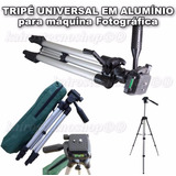 Tripe Aluminio Universa Filmadora Camera Telescopio Ate 1.30