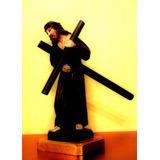 Cristo Del Gran Poder Tallado En Madera, Arte Quiteño,
