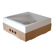 Caja Para Desayuno O Torta 30x30x12 Con Visor X30u