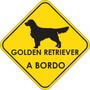 Adesivo Golden Retriever A Bordo Pet Shop Veterinárias