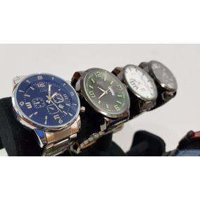 Reloj Caballero Mayoreo 12pzs Surtidas + 12 Cajas Metal