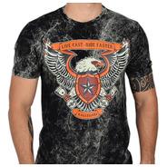 Camiseta  Live Fast Ride Faster Moto Harley Honda Kawasaki