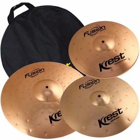 Kit Pratos Fset2 Krest B8 Fusion 14 16 20 Bronze C/ Bag