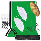 Andoer Kit De Iluminación De Estudio Fotográfico 3 Piezas...