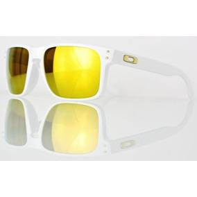 oakley holbrook branco com lente dourada