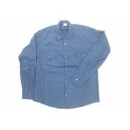 Camisa De Trabajo Antiácida Tela Grafil Azulino 48al50