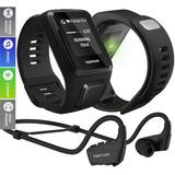 Relógio Tomtom Spark 3 Cardio Music Fone Bluetoth Multisport