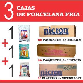 3 Cajas Porcelana Fria Nicron Soft Nicron Leticia