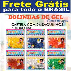 Bolinha De Gel Cresce Agua 24 Saquinhos Orbeez Frete Grátis