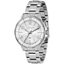 Relógio Lince Masculino (orient) Aço Lrm4316l Prova Dágua --