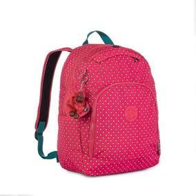 Mochila Escolar Carmine Rosa Pink Summer Pop Kipling