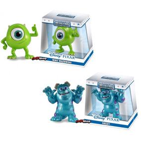 2 Bonecos Sulley Mike Wazowski Metalfigs Disney Pixar 6cm