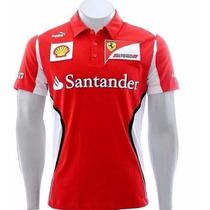 Camisa Polo Formula1 F1 Ferrari Santander Oferta Original