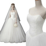 Vestido De Noiva Renda Tomara Que Caia Veu, Saiote Luva 9004