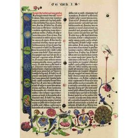 Lienzo Canvas Página Latín Biblia De Gutenberg 1455 Génesis