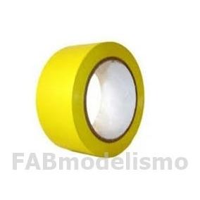 10 Fitas Decoração Amarelo 48mm X 50 Metros Fitpel 1ª Linha