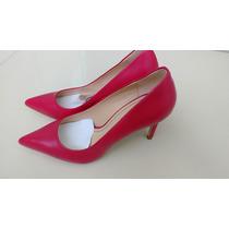 Sapato Zara Scarpin De Couro - Novo!