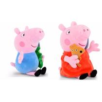 2 Pelucias Peppa Pig E George Pig Musical