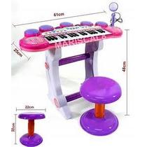 Kit Teclado + Microfono Niños Tipo Profesional Infantil