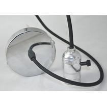 Kit Completo Socket Cable Tapa Vintage Decoración Plata