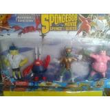 Muñecos Bob Esponja La Pelicula Superheroes Calamardo