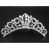 Tiara Coroa Pente Princesa Noivas Festa Strass Debutantes 8