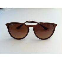 Óculos Sol Ray-ban Rb4171 Erika Marrom Original Gatinho