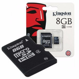 Memoria Micro Sd 8gb Clase 4 Kingston Original