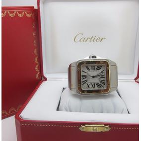 4b0582016df Cartier Santos Em Aço E Ouro Com Fase Da Lua Um Luxo! - Joias e ...