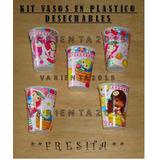 Fresita= Kit Vasos Plastico Desechable