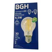 Lámpara Filamento Led Bgh Dimeriz Bulbo E27 6.5w Cálida X10u