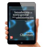 Introducción Teoria General De La Administración Chiavenato