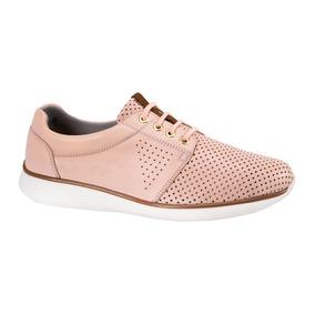 Tenis Confort Ligeros Comodos Flexi Mujer Rosa Piel Co164 A
