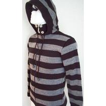 Sweter Saco Chamarra Gorro Tejido Punto Ideal Frio Invierno