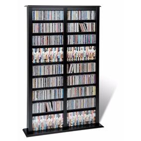 Estante Organizador Dvd Cd Blu-ray Color Negro Envió 24 Hrs