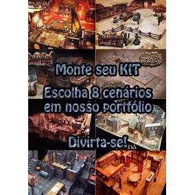 Kit 8 Cenários Para Rpg, Wargame, Tabuleiros, Mage Knight